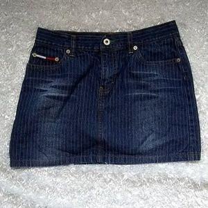 Tommy Hilfiger Jean Distressed Pinstripe Mini